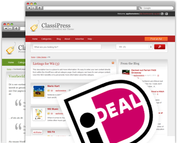 WordPress iDEAL voor ClassiPress
