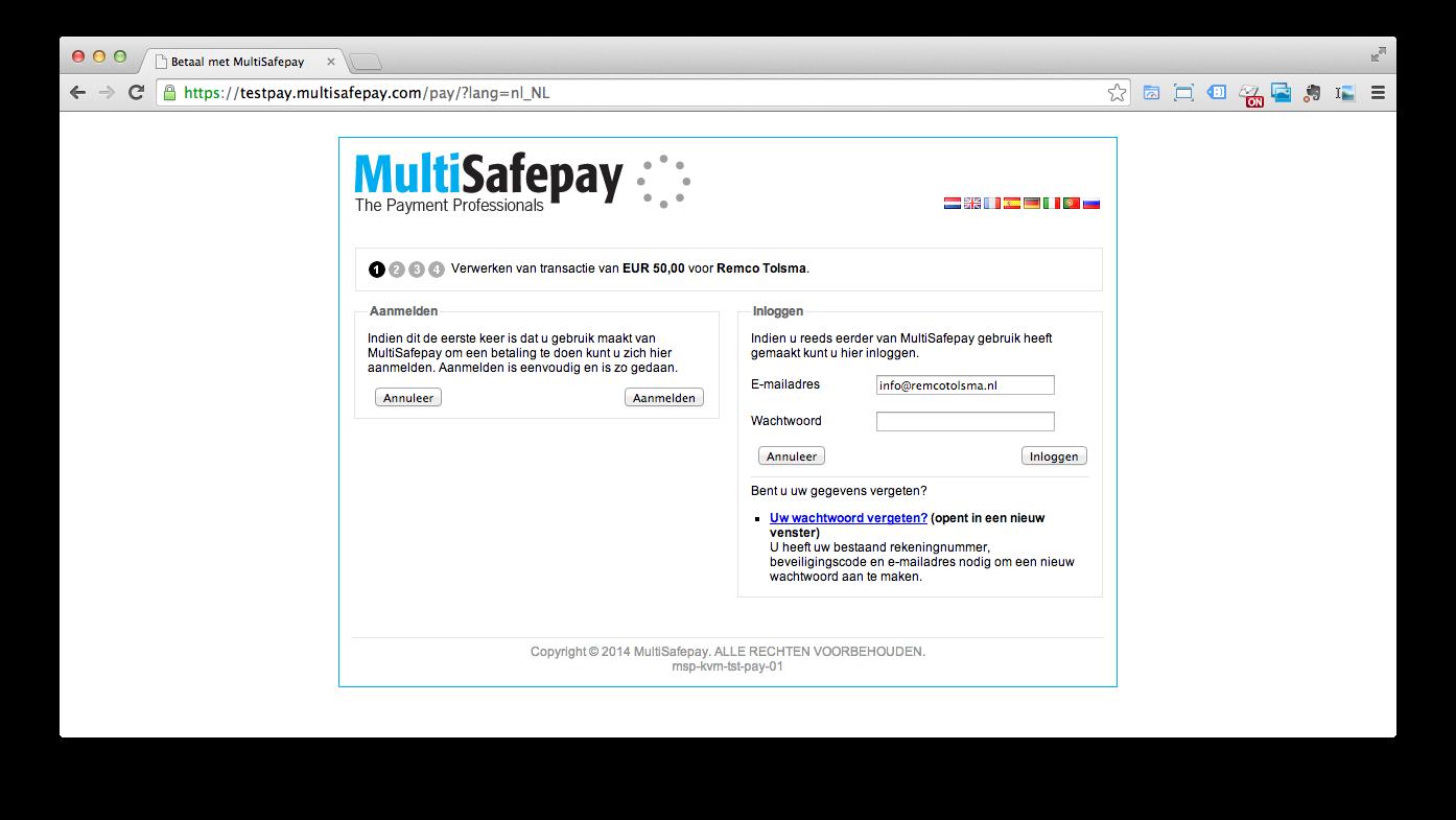 Pronamic iDEAL koppelen aan MultiSafepay - Pronamic Multisafepay Contact